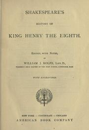 Cover of: King Henry VIII by William Shakespeare