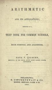 Cover of: Arithmetic and its applications by Dana P. Colburn