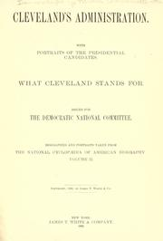 Cover of: Cleveland's administration by Democratic National Committee (U.S.)