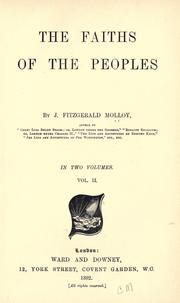 Cover of: The faiths of the peoples | Molloy, J. Fitzgerald
