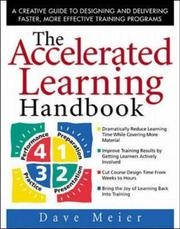Cover of: The Accelerated Learning Handbook | Dave Meier