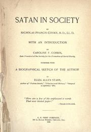 Cover of: Satan in society | Francis Nicholas Cooke