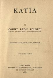 Cover of: Katia | Tolstoy
