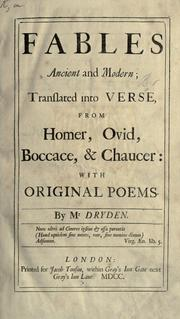 Cover of: Fables ancient and modern | John Dryden