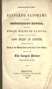 Cover of: Description of Banvard's panorama of the Mississippi river | John Banvard