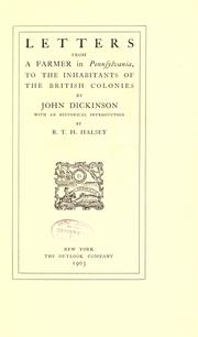 Cover of: Letters from a farmer in Pennsylvania by Dickinson, John