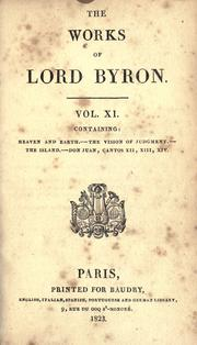Cover of: The works of Lord Byron | Lord George Gordon Byron