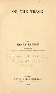Cover of: On the Track by Henry Lawson