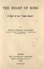 Cover of: The Heart of Rome by Francis Marion Crawford