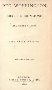 Cover of: Peg Woffington by Charles Reade