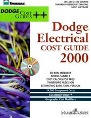 Cover of: Dodge Electrical Cost Guide 2000 by Marshall & Swift