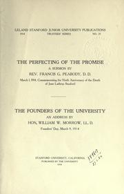 Cover of: The perfecting of the promise | Francis Greenwood Peabody