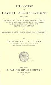 Cover of: A treatise on cement specifications | Cochran, Jerome.