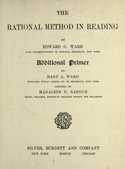 Cover of: The rational method in reading | Edward G. Ward