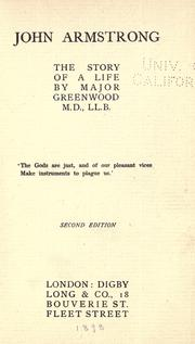 Cover of: John Armstrong | Major Greenwood