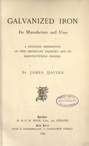 Cover of: Galvanized iron | Davies, James of London.