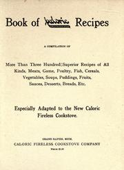 Cover of: Book of Caloric fireless cook stove recipes by Caloric Company.