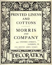 Cover of: Morris chintzes, silks, tapestries, etc by Morris & Co. (London, England)