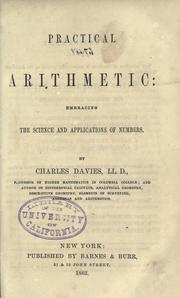 Cover of: Practical arithmetic | Charles Davies