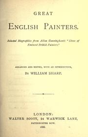 Cover of: Great English painters by Allan Cunningham