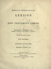 Cover of: Biblico-theological lexicon of New Testament Greek | Hermann Cremer