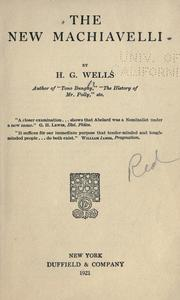 Cover of: The New Machiavelli by H. G. Wells