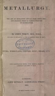 Cover of: Metallurgy by John Percy