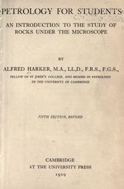 Cover of: Petrology for students | Harker, Alfred