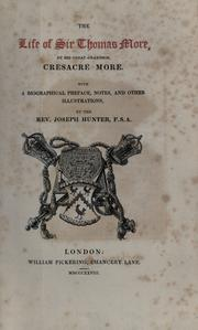 Cover of: The life of Sir Thomas More | Cresacre More