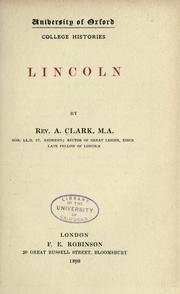 Cover of: Lincoln by Andrew Clark