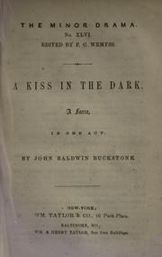 Cover of: A kiss in the dark | Buckstone, John Baldwin