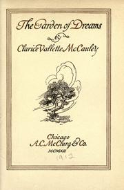 Cover of: The garden of dreams | Clarice Vallette McCauley