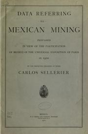 Cover of: Data referring to Mexican mining | Carlos Sellerier