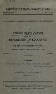 Cover of: A comparative study of city school and rural school attendance | Ernest Wilder Fellows
