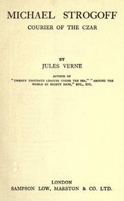 Cover of: Michael Strogoff by Jules Verne