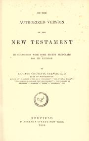Cover of: On the Authorized version of the New Testament | Richard Chenevix Trench