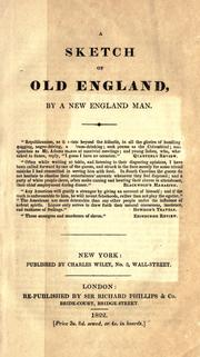Cover of: A sketch of old England | Paulding, James Kirke