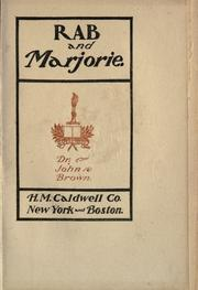Cover of: Rab and Marjorie | John Brown