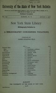 Cover of: A bibliography concerning vocations | Sullivan, James