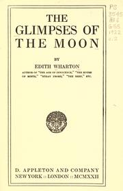 Cover of: The Glimpses of the Moon by Edith Wharton