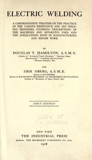 Cover of: Electric welding | Hamilton, Douglas T.