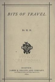 Cover of: Bits of travel | Helen Hunt Jackson