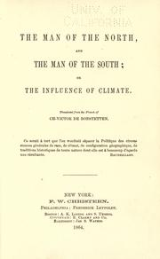Cover of: The man of the North and the man of the South | Charles Victor de Bonstetten