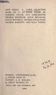 Cover of: New songs by George William Russell