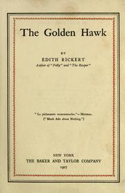 Cover of: The golden hawk | Edith Rickert