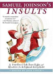 Cover of: Samuel Johnson's Insults by Jack Lynch