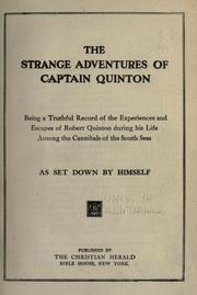 Cover of: The strange adventures of Captain Quinton by Robert Quinton