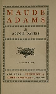 Cover of: Maude Adams | Davies, Acton