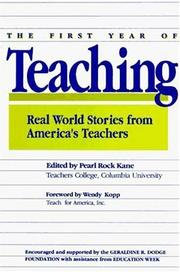 Cover of: The First Year of Teaching by Pearl R. Kane