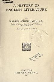 Cover of: A history of English literature | Walter Swain Hinchman